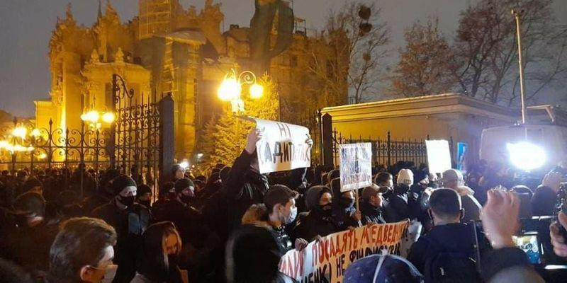 Протесты в поддержку Стерненко в Киеве вошли в острую фазу: есть пострадавшие и задержанные
