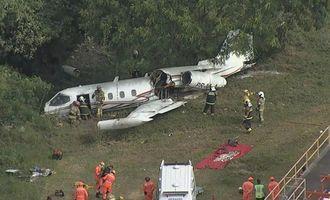 В Бразилии при посадке разбился самолет
