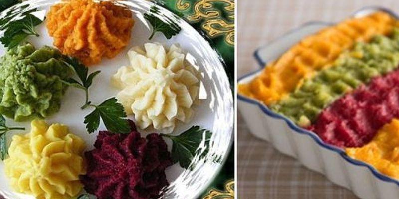Рецепт цветного картофельного пюре, которое понравится детям