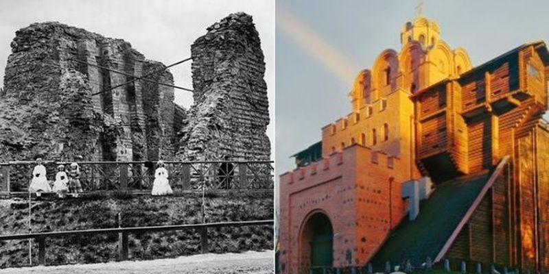 Руины Золотых ворот в Киеве показали на фото: как изменилось историческое сооружение