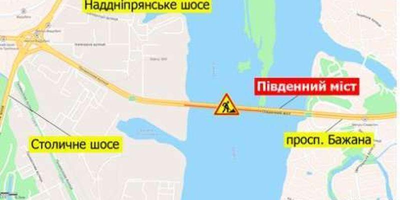 У столиці обмежать рух на Південному мосту: шви не витримують навантаження