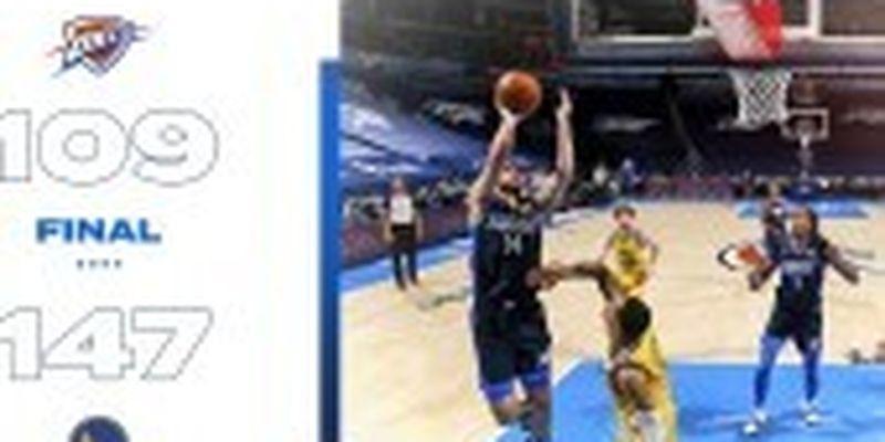 """Баскетболіст Михайлюк став одним із найрезультативніших у грі за """"Оклахому"""""""
