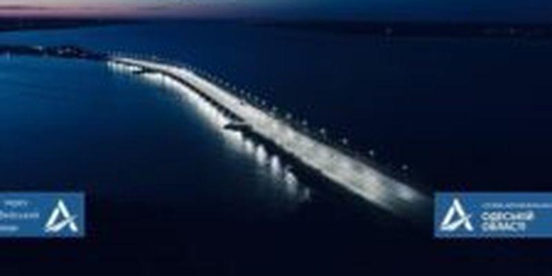 В сети показали, как Хаджибейский мост светится после Большой стройки