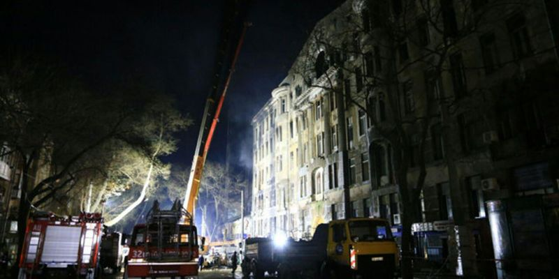 Пожар в колледже Одессы: опознали тело еще одного погибшего