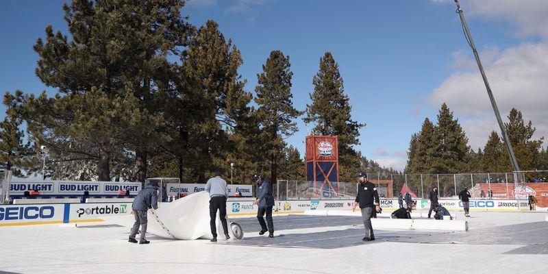В США опозорились при проведении хоккейного матча в красивом месте: видео