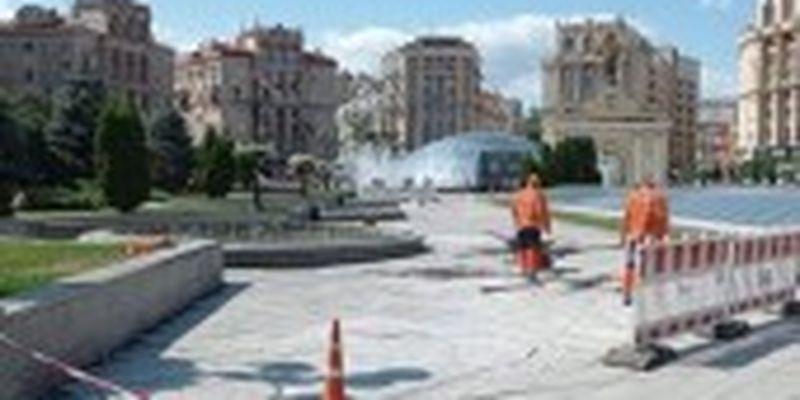 В Києві на Майдані Незалежності тимчасово не працюватиме частина фонтанів