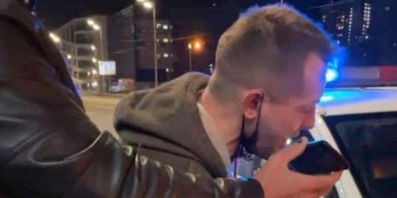 """В Киеве копы за """"пьяную езду"""" задержали ветерана АТО, который дрался с Кивой"""