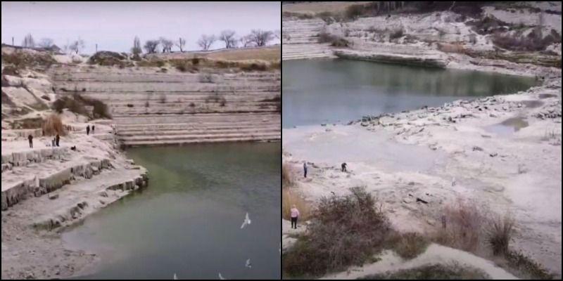 Воды нет - возьмем из невосполнимых озер: в сети показали резонансные видео из Севастополя