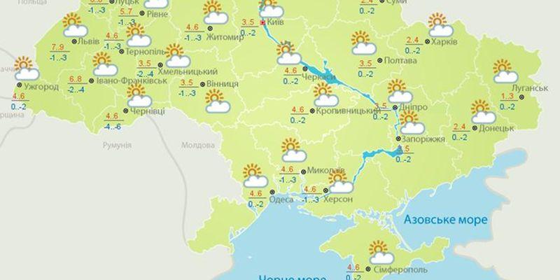 Синоптики пообещали ясную погоду и гололедицу в трех областях