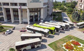 В Киеве показали автобусы нового образца
