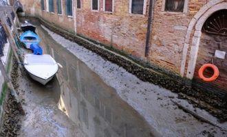 В Венеции высыхают знаменитые каналы