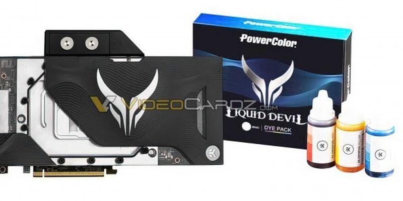 PowerColor Radeon RX 6900 XT Liquid Devil посміхається в камеру