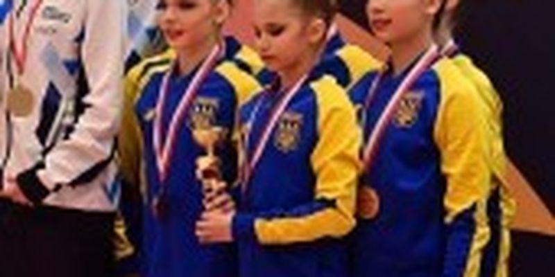 Юніорська збірна України виборола три медалі на міжнародному турнірі з гімнастики