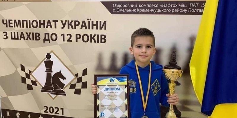10-річний шахіст зі Львова виборов два чемпіонські титули