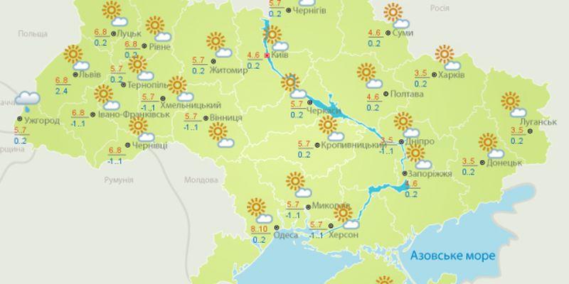 Прогноз погоди на 9 грудня: сонячно і тепло по всій Україні