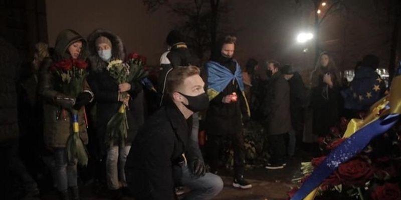 В Киеве прошло шествие к годовщине Евромайдана