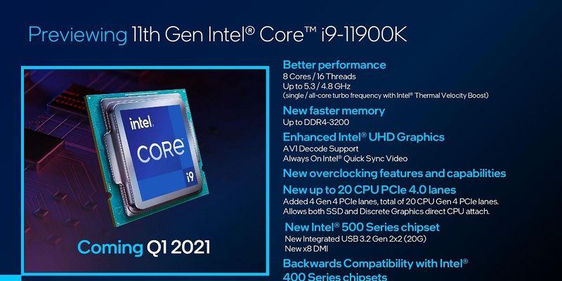 Intel Core i9-11900K выходит в лидеры однопоточного теста CPU-Z