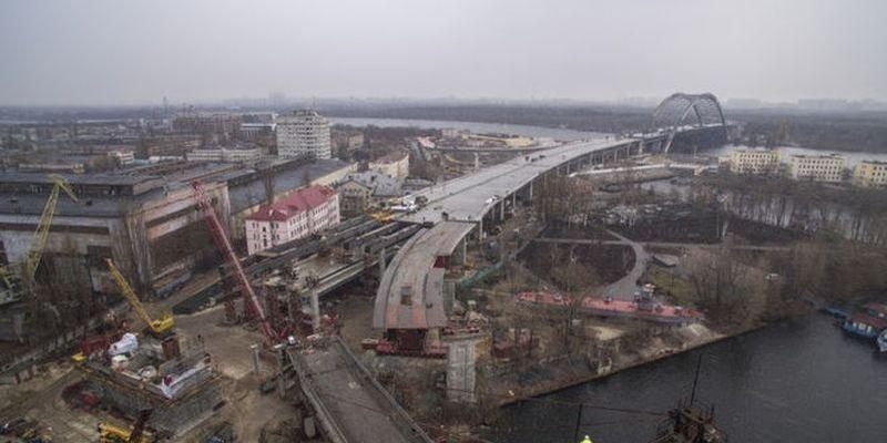 Кличко показал, как строят Подольский мост