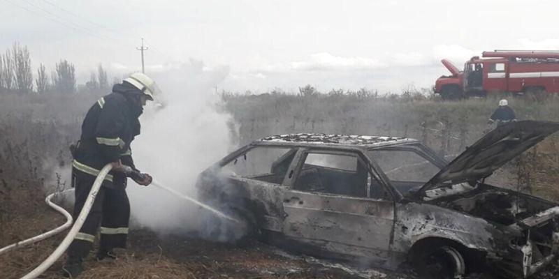 В Николаевской области на ходу сгорело авто «Лада»