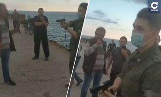 «Я просто зашел с удочкой»: в Крыму ФСБшник угрожал рыбакам пистолетом