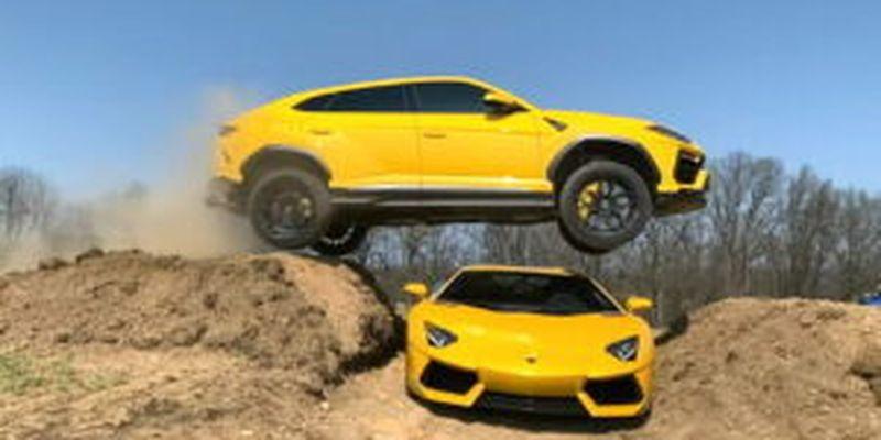 Он снова прыгнул! Блогер с 18 штрафами сиганул на Lamborghini Urus
