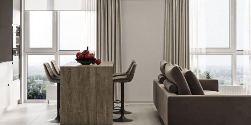 Стильний дизайнерський інтер'єр квартири у світлих тонах