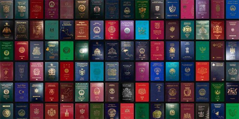 Какие цвета имеет паспорт разных стран мира?