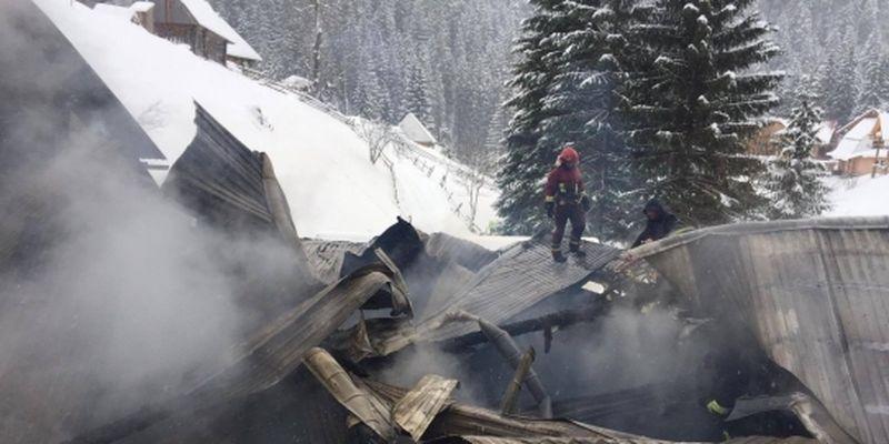 Возле Синевира в Карпатах сгорел ресторан