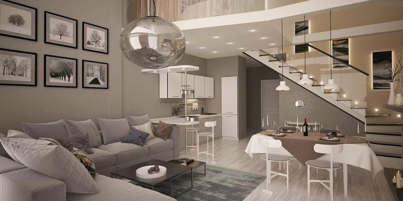 Особенности дизайна двухъярусной квартиры