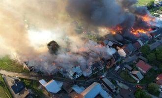 В Польше в результате пожара сгорело почти 50 домов