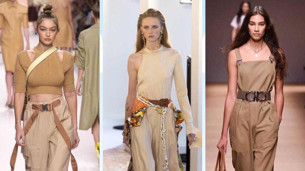 Как носить модный бежевый цвет летом 2019