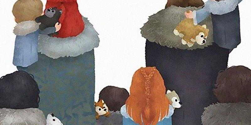 Художник изобразил 15 очаровательных картинок с известными персонажами и их семьями