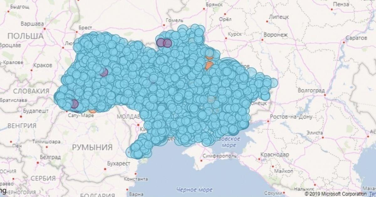 Электронная карта украины