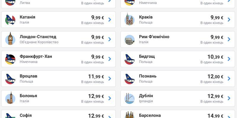 Ryanair начал распродавать билеты в Европу: полететь можно за 9 евро