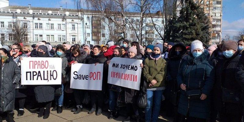У Житомирі близько тисячі підприємців вийшли на «карантинний» протест