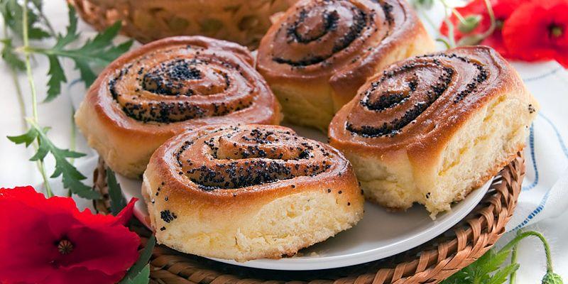 Простой и быстрый рецепт очень вкусной булочки с маком!