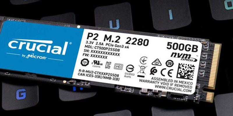 Обзор и тестирование твердотельного накопителя Crucial P2 объемом 500 ГБ