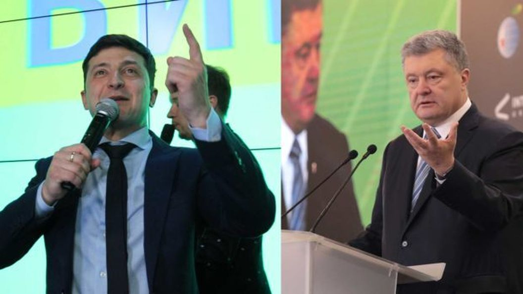 Дебаты 2019: Порошенко покинул свою сцену и отправился на «половину» Зеленского
